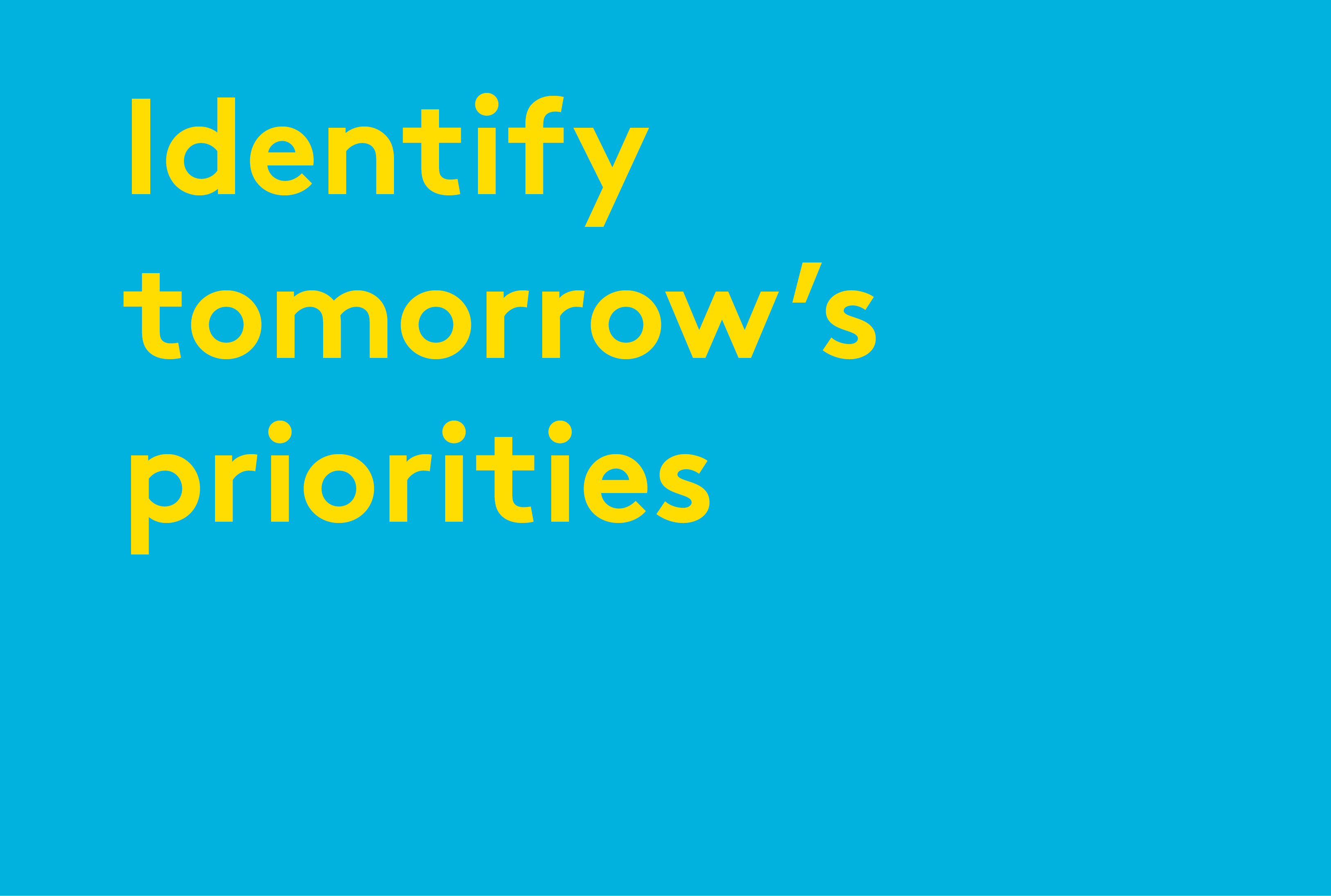 GOS Identify tomorrow's priorities visual