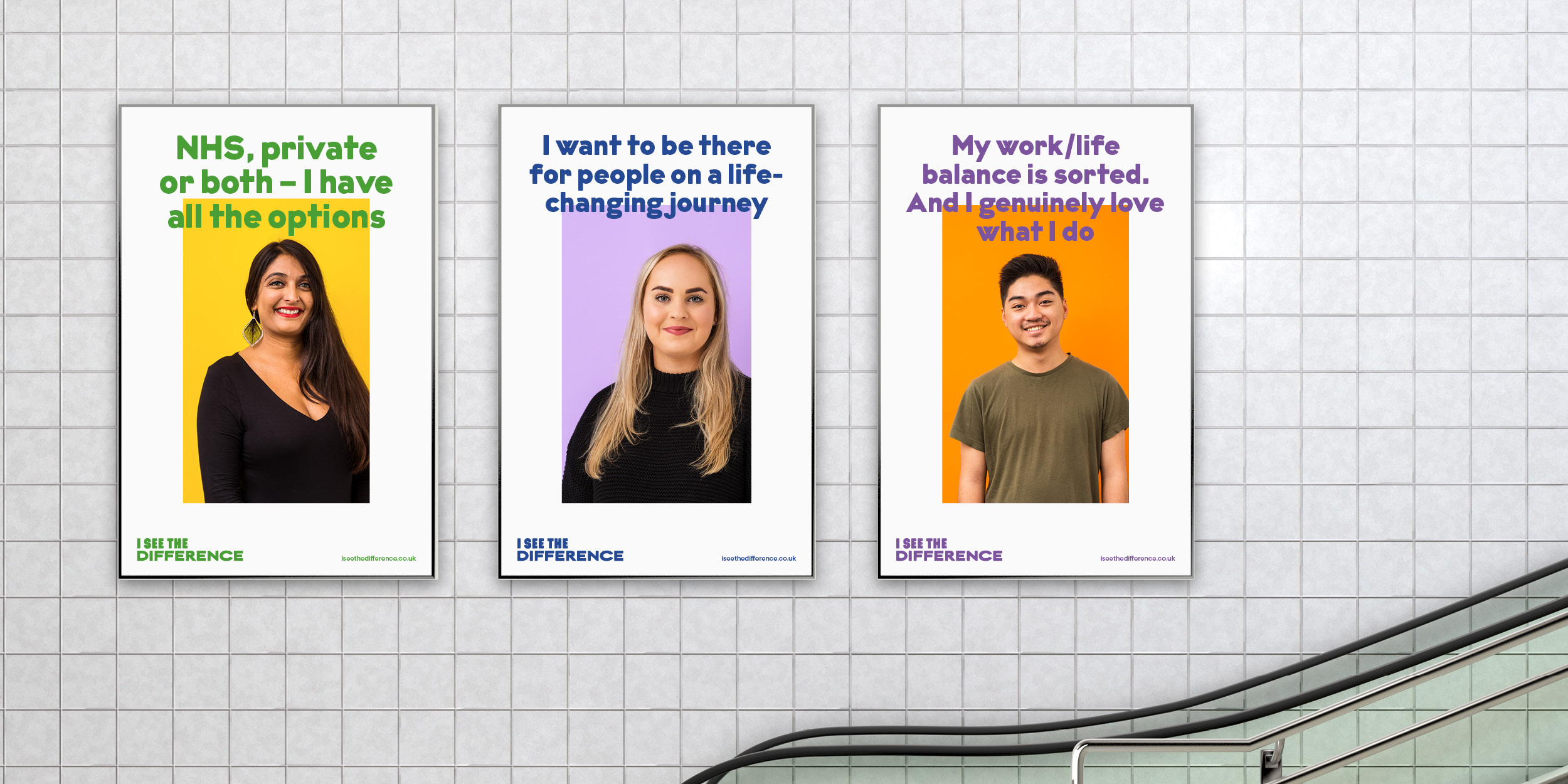 "Set of three ""I See The Difference"" campaign posters"