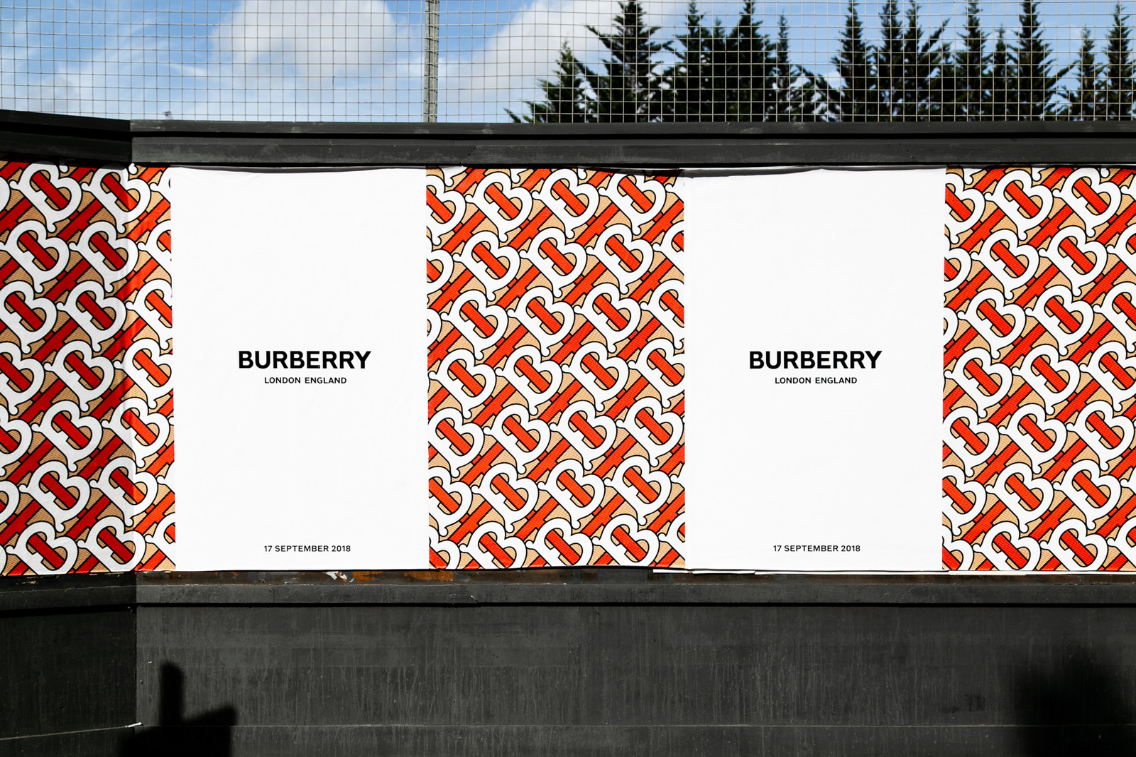 Visual of Burberry rebrand