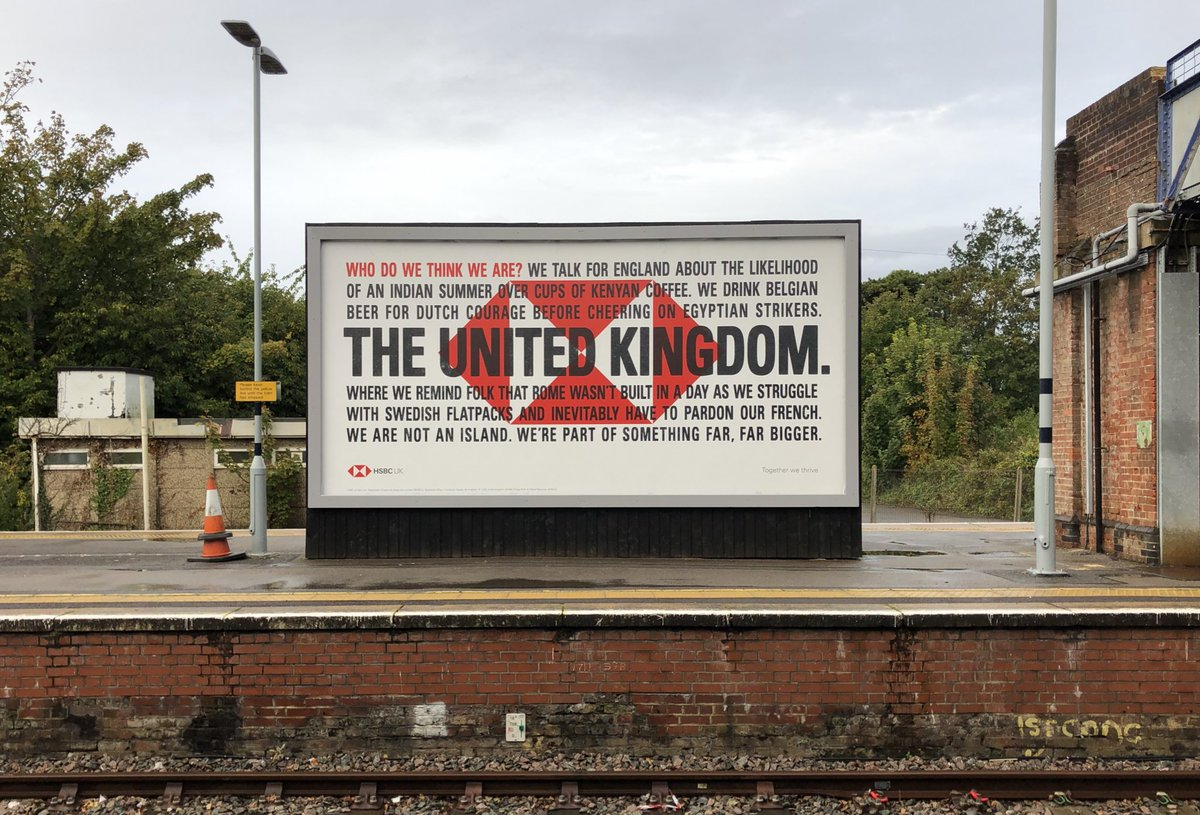 HSBC brand billboard